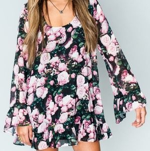MUMU floral rose DRESS